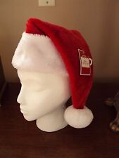 63527d35eb Christmas Deluxe Red Plush Santa Hat White Faux Fur Trim Costume Adult Large