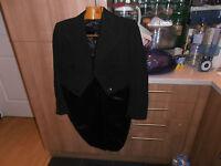 "1935 Harry Hall Ltd  Bespoke  Black White Tie Evening  Dress Tailcoat size 36"""