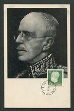 SCHWEDEN MK 1948 GUSTAV V. KÖNIG KING ROI REI CARTE MAXIMUM CARD MC CM d7685