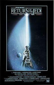 STAR WARS RETURN OF THE JEDI Episode VI 6 Movie Poster Empire Strikes Back