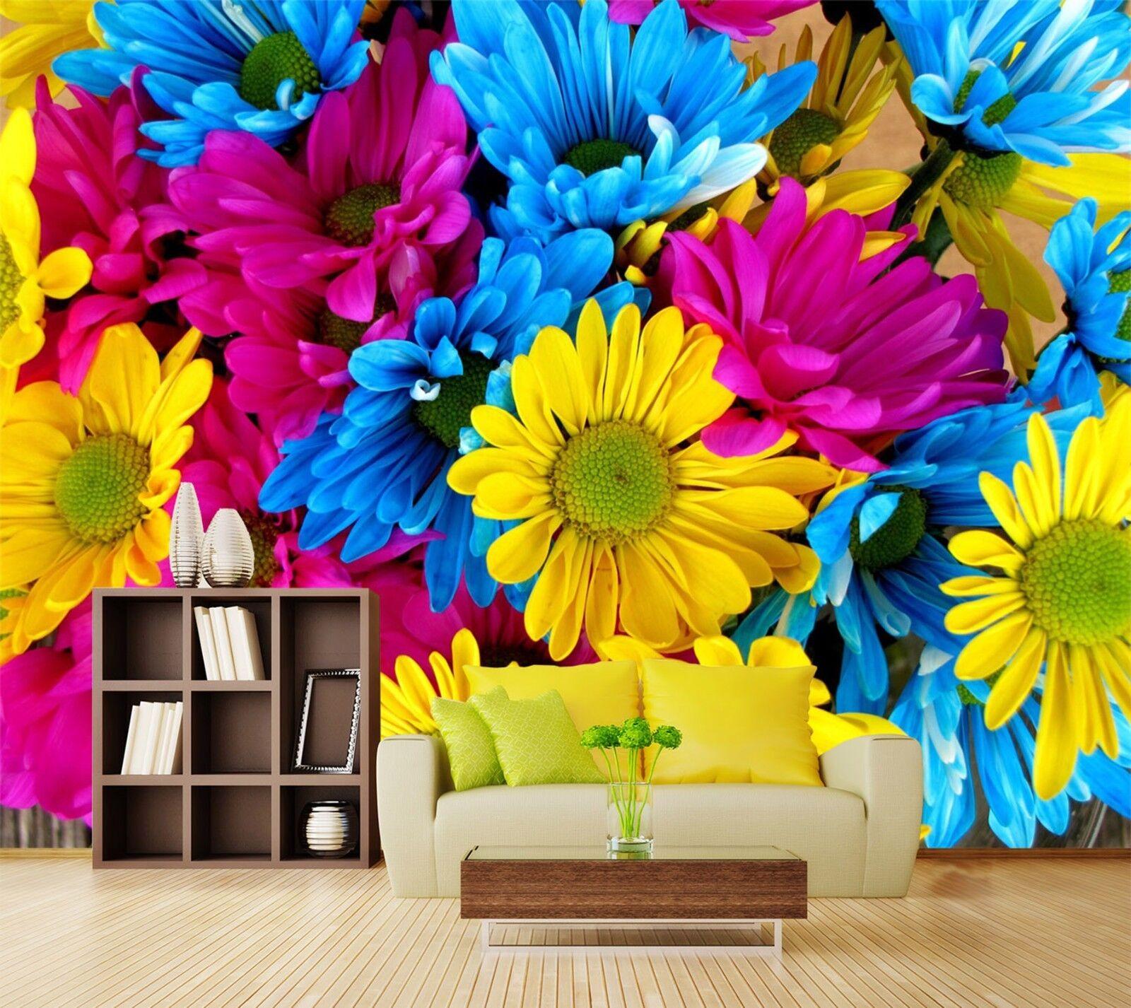 3D Farbige Blaumen Natürlich 849 Tapete Wandgemälde Tapeten Bild Familie DE Lemon