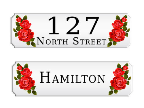 Custom Personalised Aluminium Metal Door Plaque House number