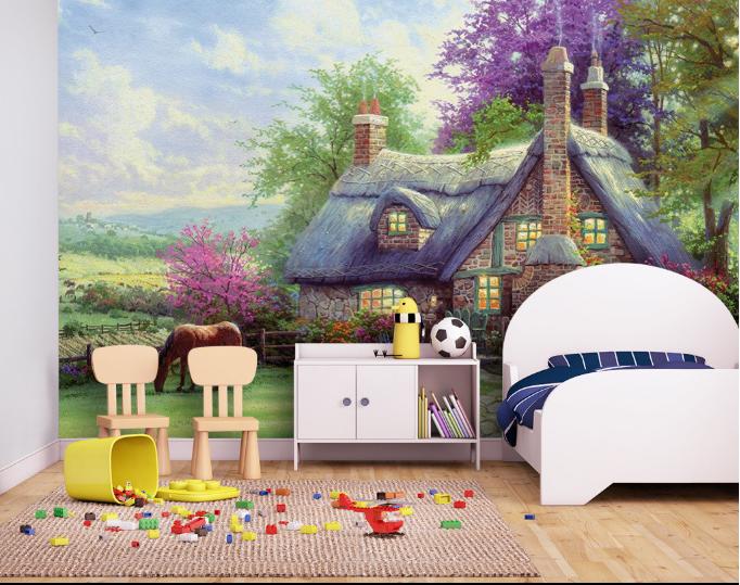 3D Märchen Häuser Wiese 8675 Tapete Wandgemälde Tapeten Bild Familie DE Summer   Louis, ausführlich    Vogue    Speichern
