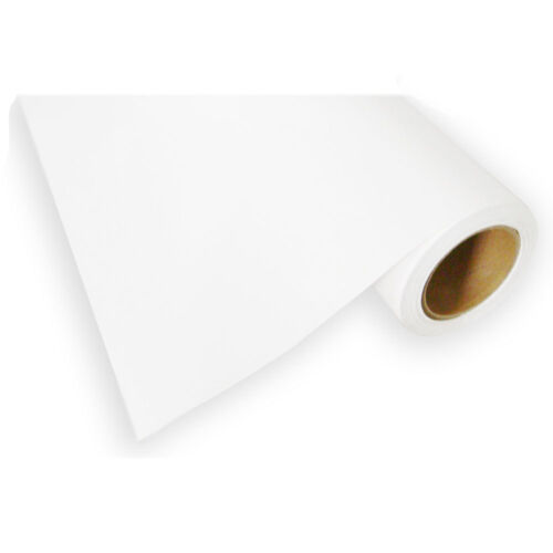 "PU Heat Transfer Vinyl HTV Roll T-shirts Press Iron On White Printable 24/""x 98ft"