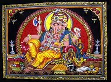 Indian God Ganesha Ganesh Wall Hanging Religious Sequin Batik Large ASBL008