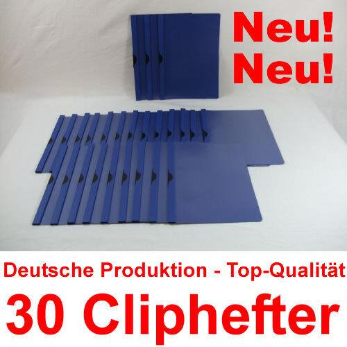 Mappen für Bewerbung Blau 30 Cliphefter Bewerbungsmappen Klemmhefter Neu