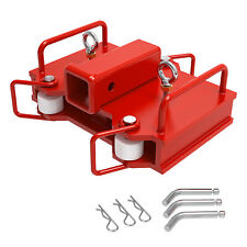 2 Trailer Forklift Hitch Receiver Towing Adapter Attach For Dual Pallet Forks