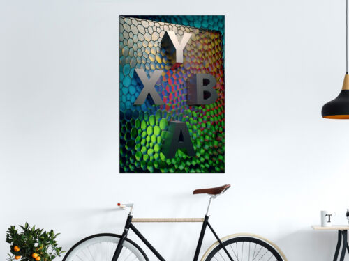 ABSTRAKT SPIELKONSOLE Wandbilder xxl auf Vlies Leinwand Bilder n-A-1067-b-a