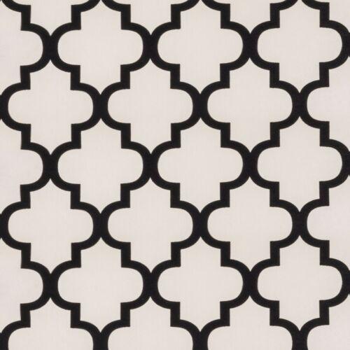 J113 Exclusive Moroccan Flock Velvet Black//Off White//Cream Damask Wallpaper