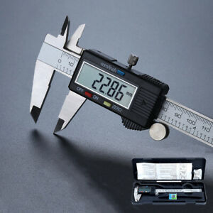 Digital Messschieber Edelstahl Schieblehre mit LCD Display 150 mm Messlehre DE