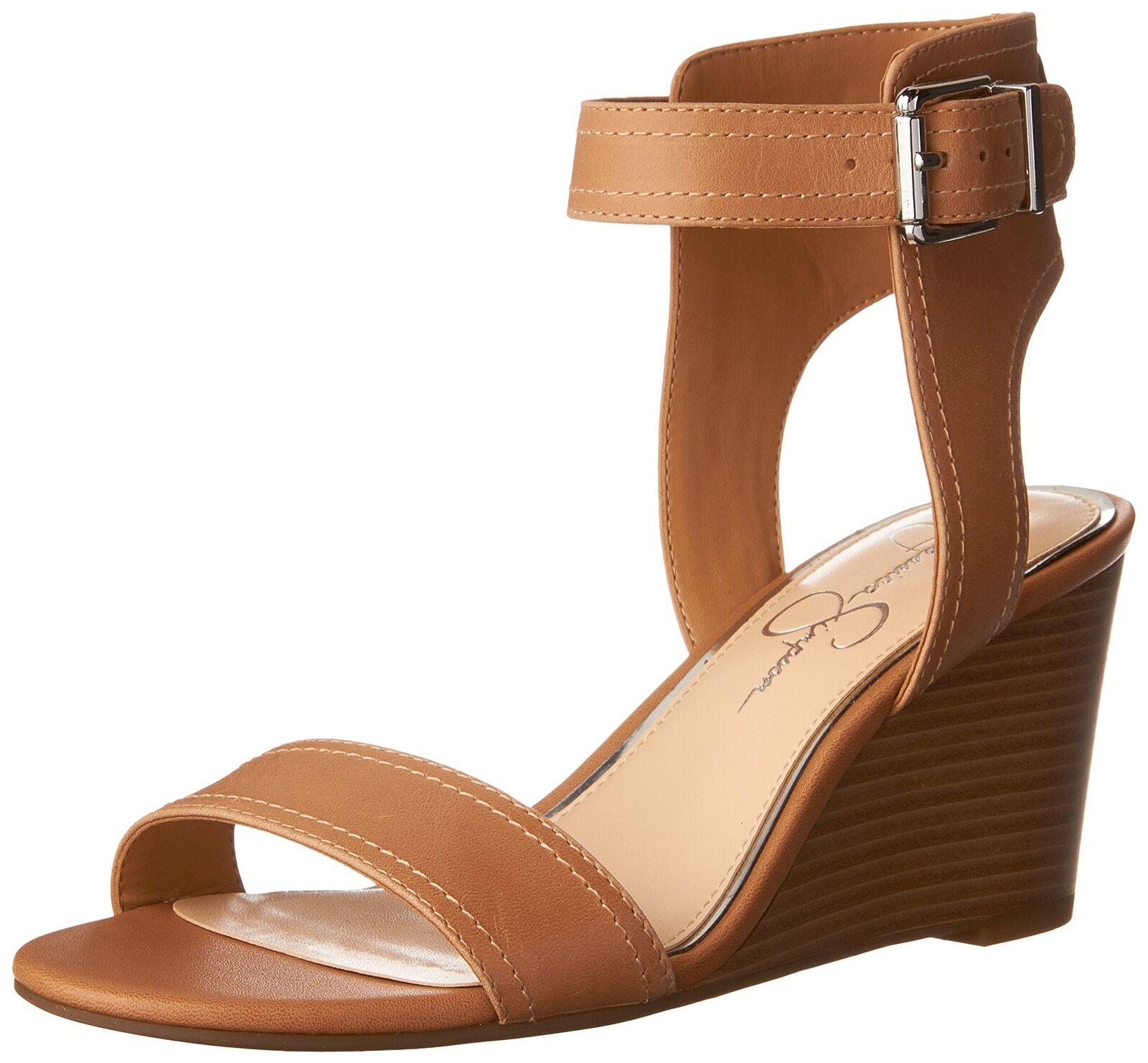 Jessica Simpson Women's Cristabel Wedge Sandal Buff 6.5 B(M) US