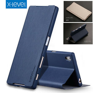 wholesale dealer 60022 10d6c X-Level Ultra-thin PU Leather Flip Cover Case For Sony Xperia Z2 Z3 ...