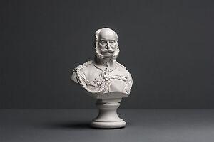Kaiser-Wilhelm-I-Bueste-ca-17-cm-Skulptur-kein-Gips-Deko-Kunst-185