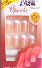 24 FAUX ONGLES ROSE FRENCH MANUCURE REF 5 + 1 COLLE
