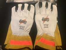 New Listingpower Gripz Lineman Gloves Xl Leather Tpg Wg10 11 Inches To Top Middle Finger