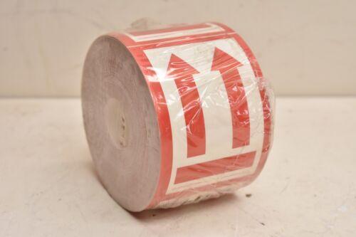 """The De Leone Corp UP ARROWS Label Sticker IATA405R 3/"""" X 4-1//4/"""" Roll of 500"""