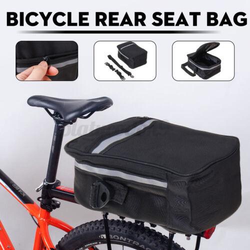 Bike Cycling Bicycle Storage Pannier Saddle Rack Rear Seat Bag Shoulder Bags