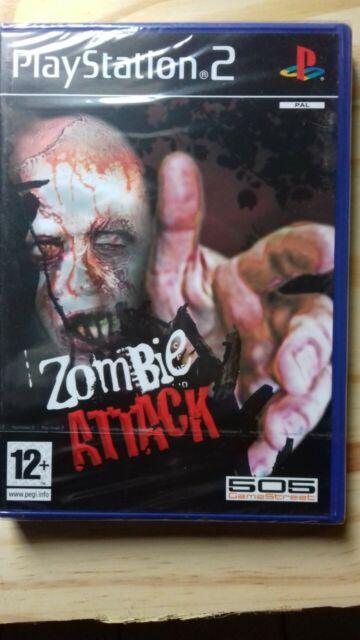 Jeu PS2 zombie attack avec liseret officiel (neuf sous cellophane).