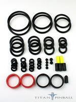 Universal Pinball Machine Rubber Ring Kit - Titan Competition Silicone - Black