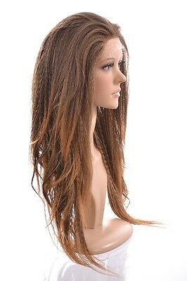 Fergie Crimped Style Long Lace Front Wig | 4 Shades | Yaki Wave Wigs