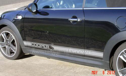 Cooper S Rocker stripes stripe decal decals graphics fit Mini Cooper Countryman