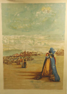 034-Expressive-Landscape-View-with-People-034-Litho-Graphic-169-175-Unl-signed
