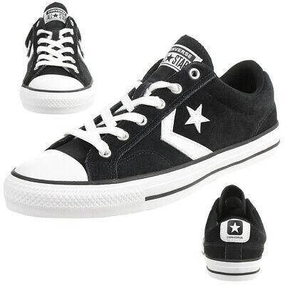 Converse STAR PLAYER OX Schuhe Sneaker Wildleder Schwarz