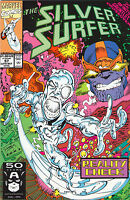 Silver Surfer #57 - Infinity Gauntlet X-Over! Thanos - 1991 (Grade 8.0) WH