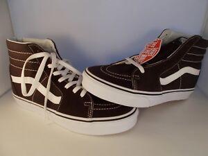 VANS-SK8-Hi-Chocolate-Torte-White-Skateboarding-Shoes-Men-039-s-Size-8-New-In-Box