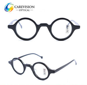 1572df948f Image is loading Handmade-Vintage-Retro-Small-round-Acetate-Eyeglass-Frames-
