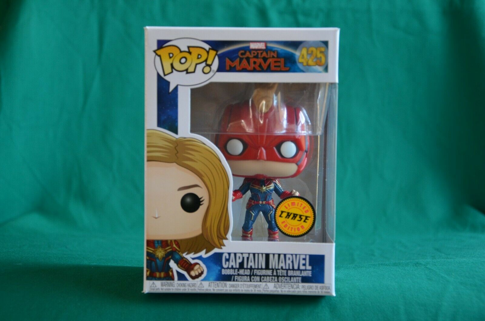 FUNKO POP  - MARVEL - CAPTAIN MARVEL - 425 - LIMITED EDITION CHASE - NUOVO