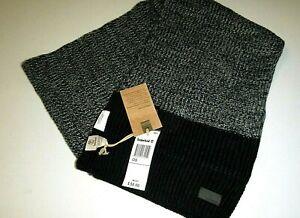 "Timberland mens 72""x12"" designer macys gray & black cable knit acrylic scarf"