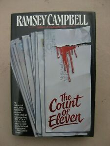 The Count of Eleven by Ramsey Cambell (HBDJ) 1st First Edition 1992 Horror