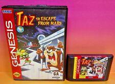 Taz in Escape From Mars  - Sega Genesis Game -  Rare Looney Tunes Marvin Martian
