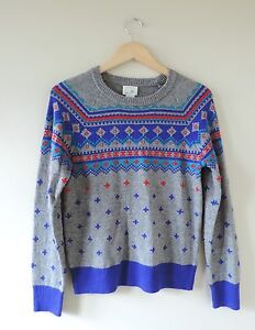 Kids-Girls-Crewcuts-J-Crew-Retro-Ski-Sweater-Size-Large-14