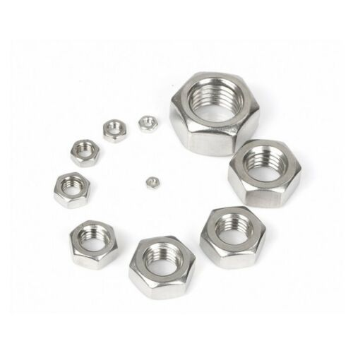 G304 Stainless Steel Hexagon Nuts Fine Thread To Fit Metric Bolts /& Screws