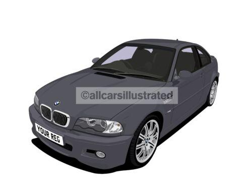 CAR ART T-SHIRT BMW M3 PERSONALISE IT! E46
