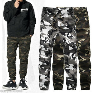 Men-039-s-Cotton-ARMY-Pants-Military-Camouflage-Camo-Trousers-Casual-Sports-Gym-Pant
