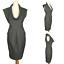 Zara-Grey-Smart-Work-Office-Pleat-Stretch-Cowl-Sleeve-Pencil-Tulip-Dress-XS-6-8 thumbnail 1