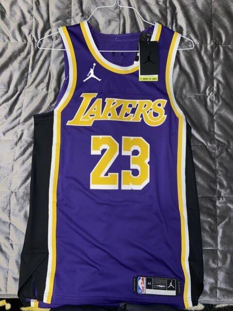Nike Los Angeles Lakers Association Authentic Jersey Lebron James #23 Sz 44