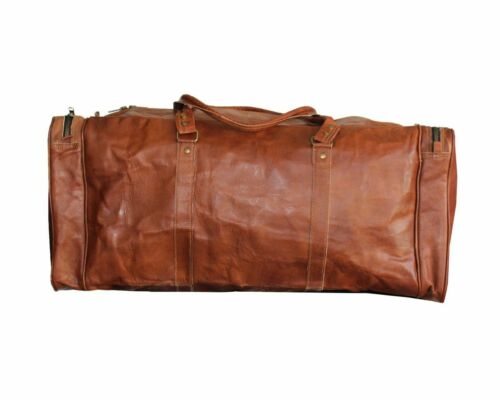 Men/'s  Real Leather Large Travel Duffel Weekend Handmade Luggage Gym Bag
