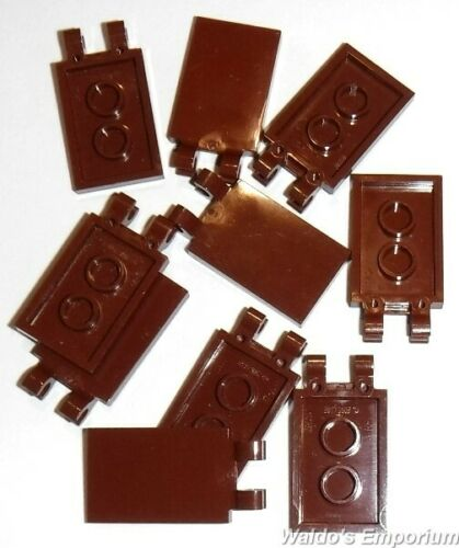 Lego Tile Modified New Lot of 50 30350 Reddish Brown 2x3 with 2 Clips
