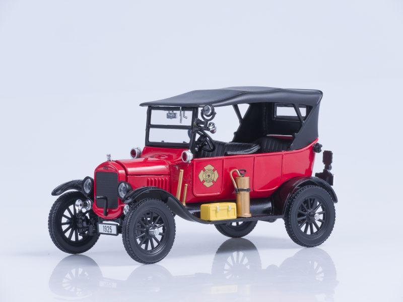 Modelo de escala 1 24 1925 Ford Modelo T Touring (jefe de Fuego) - rosso