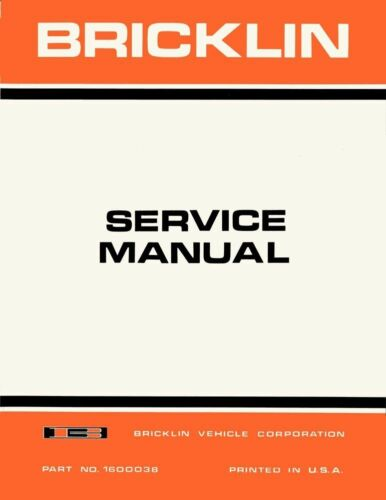 1974 Bricklin Shop Service Repair Manual Engine Drivetrain Electrical
