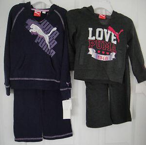 PUMA NWT 2PC Track Suit Sweat Shirt Top Jacket Hoodie Pants Warm Up 48 2 3 4 5 6