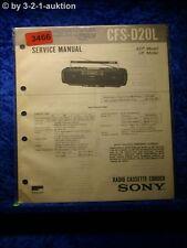 Sony Service Manual CFS D20L Cassette Recorder (#3466)