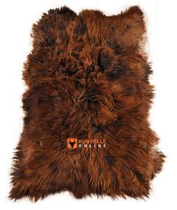 éco peau de mouton tapis marron en 4 ISLANDE Fourrures D\'agneau 190 ...