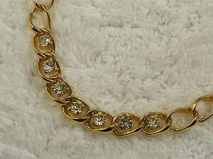 Goldtone-Rhinestone-Chain-Necklace-B25