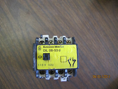 Klockner Moeller Contactor Relay DiL08-53D-S 220V 50hz