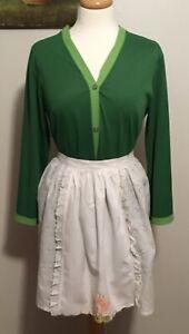 Vintage-Apron-Vintage-Cotton-Eyelet-Half-Apron-Vintage-Kitchen-Linens